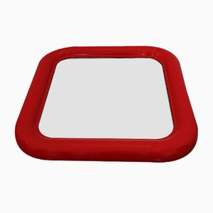 Mid-Century Red Delfo Mirror by Sergio Mazza for Artemide, 1960s