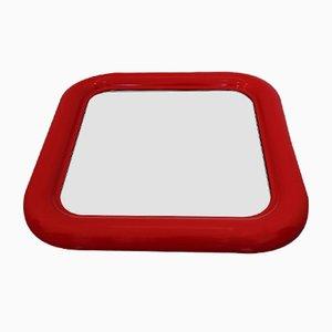 Specchio Delfo Mid-Century rosso di Sergio Mazza per Artemide, anni '60