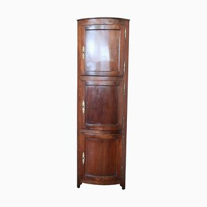 Antique Solid Walnut Corner Cabinet, 1750s