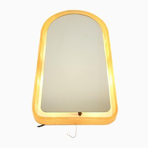 Large Illuminated Wall Mirror by Egon Hillebrand for Hillebrand Lighting, 1970s