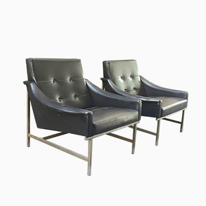 Black Armchairs by Pieter De Bruyne for Arflex, Set of 2
