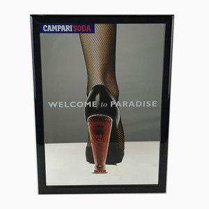 Sifón Campari Bienvenido al espejo publicitario Paradise, 1996