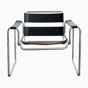 Vintage Chrome and Leather Chair, Austria, 1970s