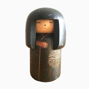 Vintage Kokeshi Gummibaum von Sansaku Sekiguchi