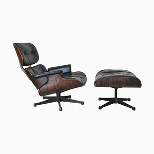 Rosewood Lounge Chair and Ottoman Set by Charles & Ray Eames for Herman Miller, 1960s
