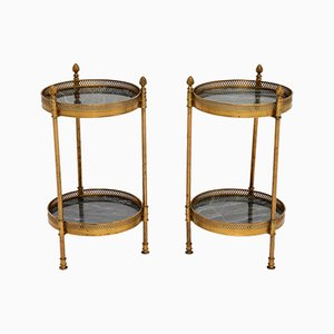 Brass Side Tables, 1950s, Set of 2