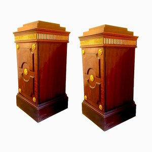 Empire Column Nightstands by Architetti Artigiani Anonimi, 1819, Set of 2