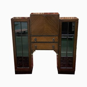 French Art Deco Walnut Secretaire, 1930s