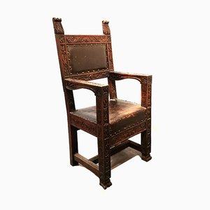 Vintage Throne Chair by Architetti Artigiani Anonimi