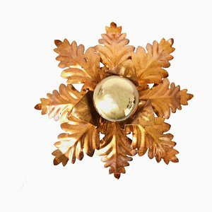 Vintage Hollywood Regency Flower Ceiling Lamp by Hans Kögl