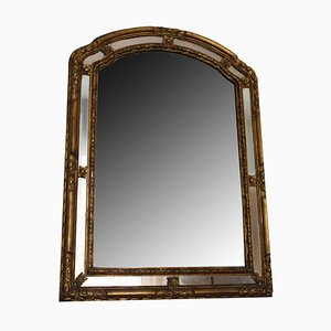 Vintage Italian Carved and Gilt Wood Mirror, 1900s