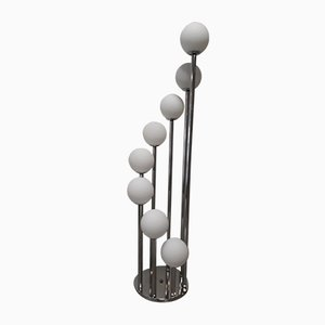 Spiralförmige Vintage Stehlampe mit 8 Leuchten