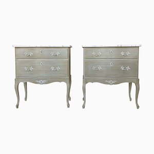Small Swedish Chest of Drawers, 1970s, Set of 2
