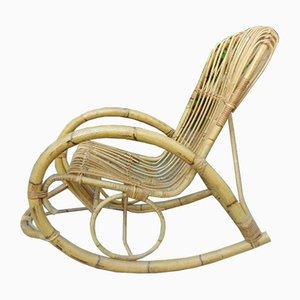 Mecedora vintage de bambú