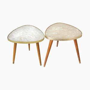 Mid-Century German Kidney Tables, Set of 2