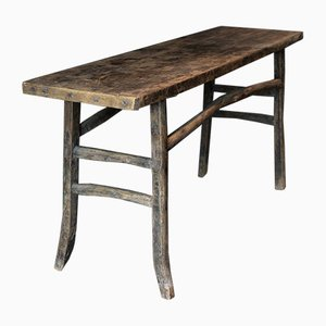 Antique Asian Elm Console Table