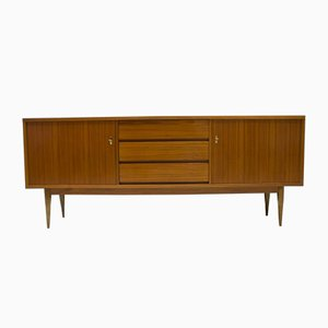 Large German Walnut Sideboard with Filigree Feet, 1960s