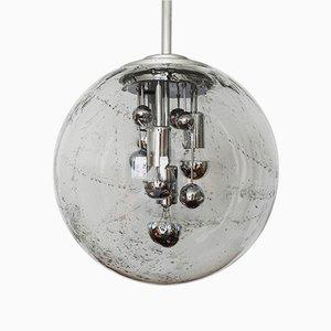 Große Deutsche Glas Deckenlampe von Doria Leuchten, 1960er