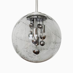 Large German Glass Ceiling Lamp from Doria Leuchten, 1960s