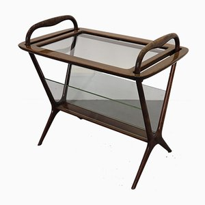 Mid-Century Italian Side Table with Magazine Rack, 1950s