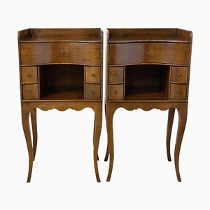 French Louis XV Nightstands, 1920s, Set of 2