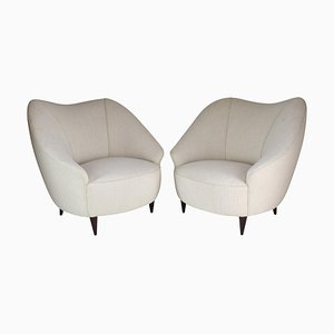 Mid-Century Italian Armchairs Attributed to Gio Ponti, 1950s, Set of 2