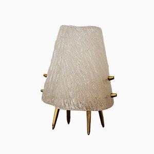 Lámparas de mesa de cristal de hielo de Kalmar, 1950. Juego de 2