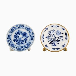Meissen Advertising Plate Holders in Hand-Painted Porcelain, Set of 2