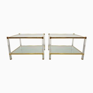 Vintage Italian Plexiglass Coffee Tables, Set of 2