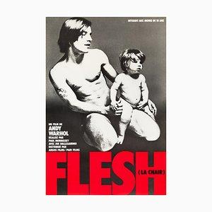 Affiche Flesh d'Andy Warhol par Francesco Scavullo, 1968