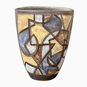 Ceramic Decorative Vase by Alexandre Kostanda, 1960s
