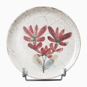 Mid-Century French Ceramic Decorative Plate by Gustave Reynaud for Le Mûrier, 1950s