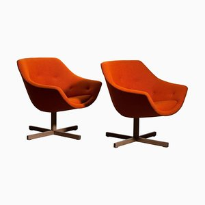 Mandarini Swivel Armchairs by Carl Gustaf Hiort & Nanna Ditzel for Puunveisto OY, 1960s, Set of 2