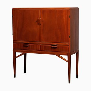 Mahogany Dry Bar Cabinet from Marbo, Sweden, 1950s
