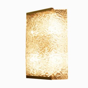 Large Ice Glass Sconce from J.T. Kalmar