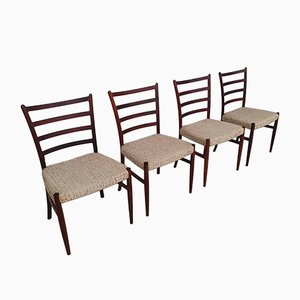 Mid-Century Danish Rosewood Dining Chairs by Johannes Andersen for SVA Mobler, Set of 4