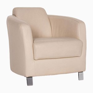 Cream Leather Armchair from Ewald Schillig