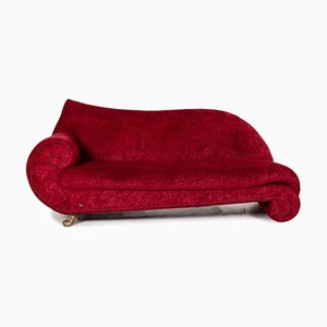 Red Velvet Fabric Guad 2-Seat Sofa from Bretz