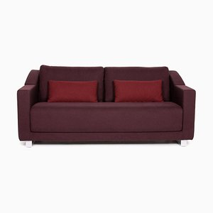 Aubergine Violet Fabric 350 3-Seat Sofa from Rolf Benz
