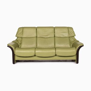 Green Leather Eldorado 3-Seat Function Sofa by Kein Designer for Stressless