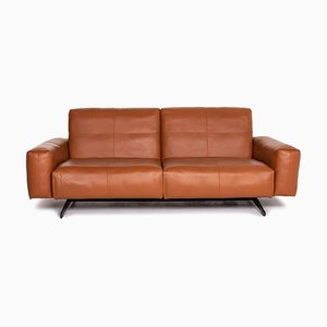 Cognac Brown Leather 50 3-Seat Function Sofa from Rolf Benz