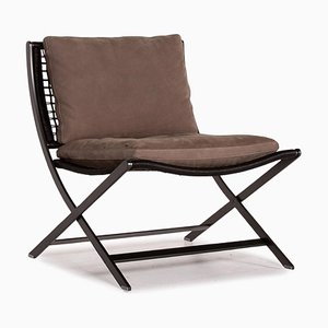 Brown Leather Peter Armchair by Antonio Citterio for Flexform