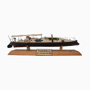 Antique Model of Thornycroft Torpedo Boat, 1883