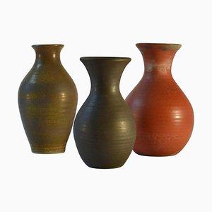 Mid-Century Dutch Studio Ceramic Vases, 1960s, Set of 3