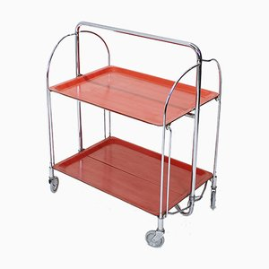 Mid-Century German Chrome-Plated Metal Folding Trolley by Bremshey Gerlinor, 1960s