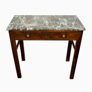 Vintage Art Deco Marble Top Console Table
