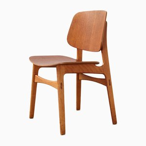 Vintage Model 155 Dining Chair by Børge Mogensen for Søborg Møbelfabrik