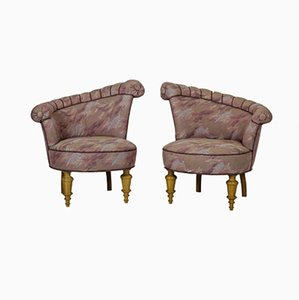 Danish Asymmetrical Armchairs in the Style of Kagan, 1950s, Set of 2