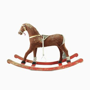 Vintage Czechoslovak Rocking Horse, 1920s