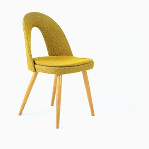 Mid-Century Czechoslovak Gold Fabric Dining Chair by Antonín Šuman for Tatra, 1960s